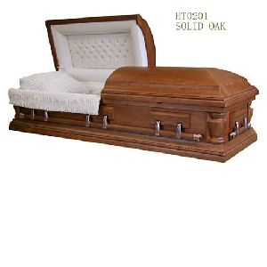 wood casket
