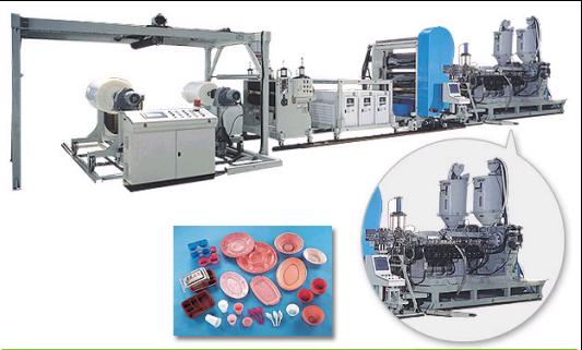 PP/ PS/ PET Sheet Co-Extrusion Line