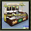 Customized mall wooden food kiosk design for food and beverages sale